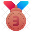 Bronze Medal Medal Third Icon