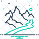 Brook Streamlet Rill Icon