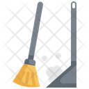 Broom Sweeping Hygiene Icon