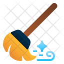 Broom Broomstick Cleaning Icon