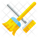 Broom Cleaning Brush Icon