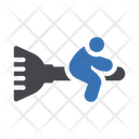 Broomstick Magician Mop Icon