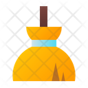 Broom Witch Halloween Icon
