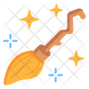 Witch Broom Magical Broom Broomstick Icon