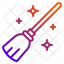 Broom Halloween Magic Witch Broomstick Icon