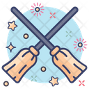 Magic Brooms Broomsticks Cleaning Brooms Icon