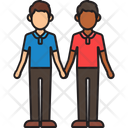 Men Couple Holding Hands Icon
