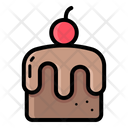 Brown Cake Brownie Icon