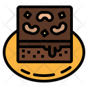 Brownie Pastry Nutrition Icon