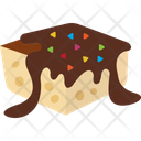 Brownie Cake Desert Icon