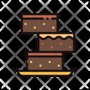 Brownie Cake Sweet Icon