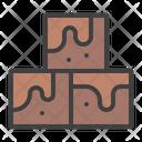 Brownie Chocolate Caramel Icon