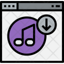Browser Music Download Icon