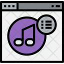 Browser Music List Icon