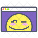 Browser Web Smile Icon