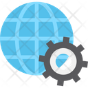 Browser Cog Globe Icon