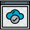 Browser Cloud Check Icon