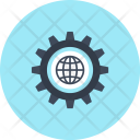 Browser Cogwheel Design Icon