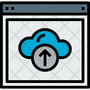 Browser Cloud Upload Icon