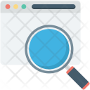 Browser Magnifier Web Icon