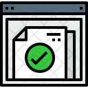 Browser Document Check Icon