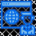 Website Man Globe Icon