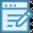 Webpage Pen Html Icon