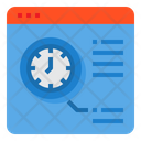 Browser Time Clock Icon