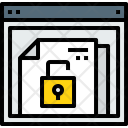 Browser Document Unlock Icon