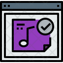 Browser Music Check Icon