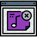 Browser Music Webpage Icon