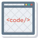 Browser Code Coding Icon