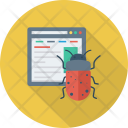 Browser Bug Code Icon