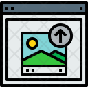 Browser Upload Webpage Icon