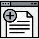 Browser Document Add Icon