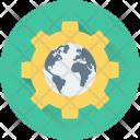 Browser Cog Globe Icon
