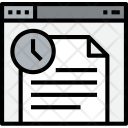 Browser Document Time Icon