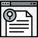 Browser Document Search Icon