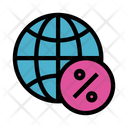 World Percentage Global Icon