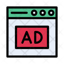 Ads Webpage Browser Icon