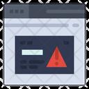Browser Alert Browser Warning Browser Error Icon