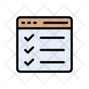Checklist Webpage Browser Icon