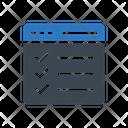 Browser Checklist Icon