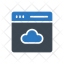Cloud Webpage Browser Icon