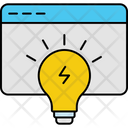 Storming Bulb Concept Icon