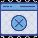 Browser Error Website Icon