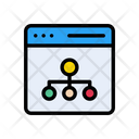 Network Connection Webpage Icon
