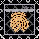 Identity Lock Security Icon