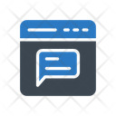 Online Message Support Icon