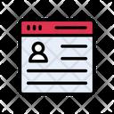 Online Webpage Profile Icon